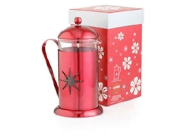 French press La Cafetière Midnight Red Star - na 8 šálků, dárkové balení